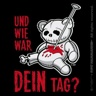 """ASP """"Die Kleine Ballde …"""" Illustration + Lettering """"Und wie war Dein Tag?"""""""