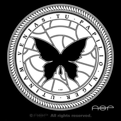 """ASP Schwarzer Schmetterling """"Utinam venias tu papilio niger"""""""