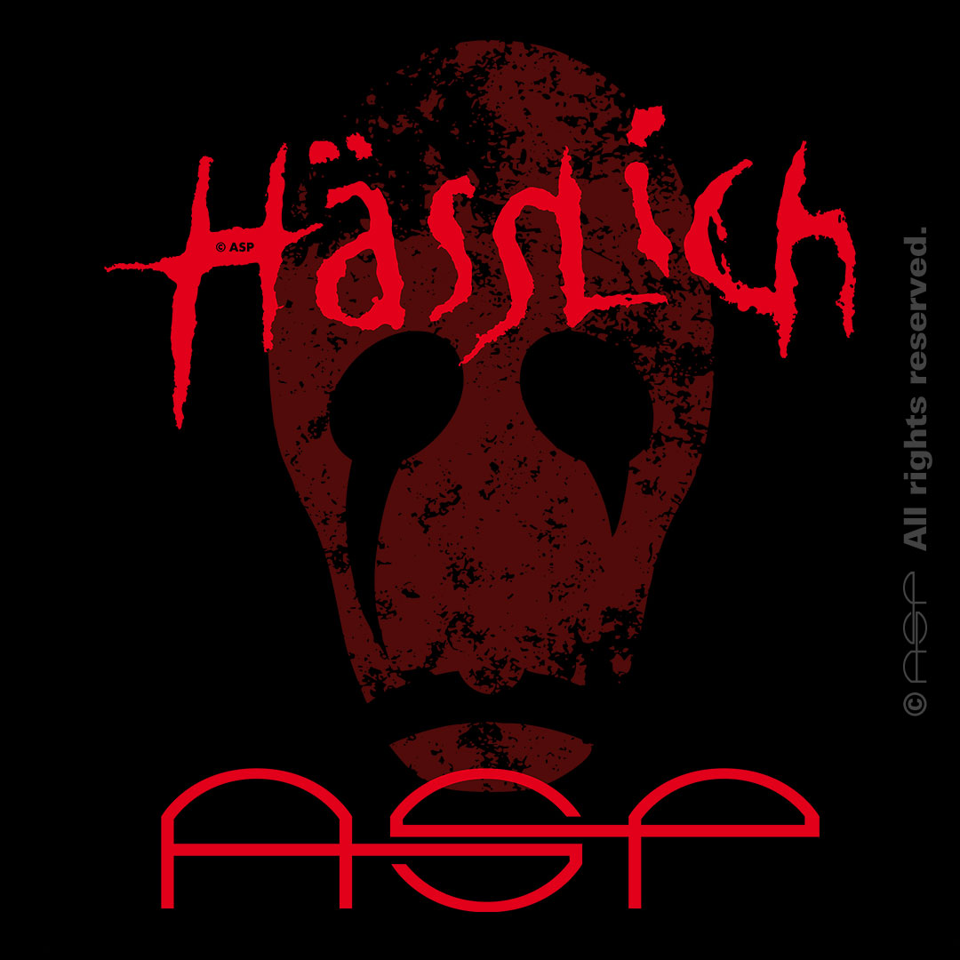 """ASP Lettering """"Hässlich"""" + Illu stilisierter Totenkopf zum Song """"Hässlich"""" vom Album """"Weltunter"""" © ASP"""