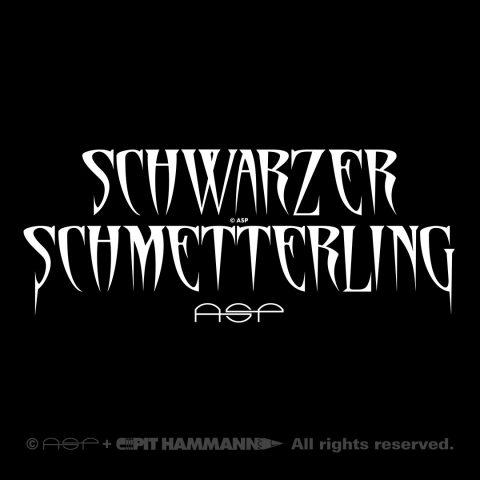 """Lettering """"Schwarzer Schmetterling"""""""